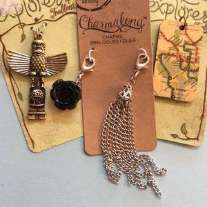 Jewelry - Charm pendants rose totem tassel map boho
